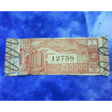 Antiguo Billete De Loteria Hospital Caridad Año 1954