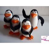 Adorno Para Torta. Pinguinos De Madagascar En Porcelana Fría