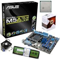 Kit Asus M5a78l M + Processador Six Core Fx 6300 4.1ghz + 4g