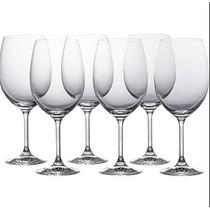 Jogo 6 Taças Cristal Vinho Agua Gastro 450ml Bohemia