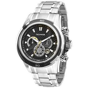 Relógio Technos Perf Sports Carbon Js26ac/1p 47mm Prata