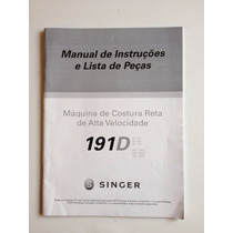 Manual De Instruções Máquina Singer Costura Reta 191d