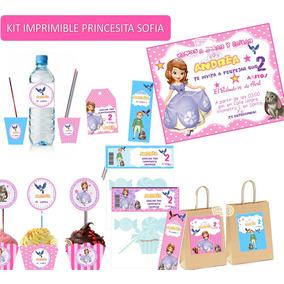 Kit Imprimible Sofia Princesa Candy Bar Personalizado