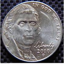 Moneda Usa 5 Centavos De Dolar Jefferson 2010