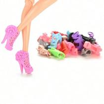 Kit Com 15 Sapatinhos Para A Boneca Barbie Pronta Entrega