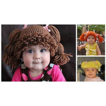 Cabbage Patch Gorro Crochet Tejido A Mano