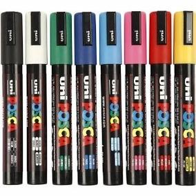Caneta Marcador Posca Uni Ball Pc5m 2,5mm 10 Cores Kit*ok