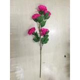 Kit 6 Crisântemos Flores Artificiais Decorativos Pronto Entr