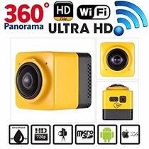 Camara Deportiva Videos 360° Cube Wifi Full Hd Envío Gratis