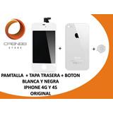 Combo Pantalla + Tapa Trasera + Boton Inicio Iphone 4s