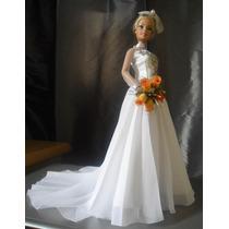Vestido De Noiva P/boneca Barbie-personalização