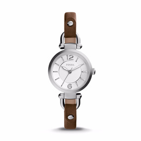 Georgia Brown Leather Watch- Fossil