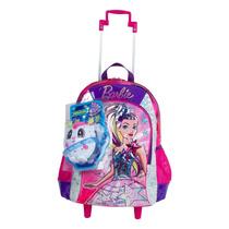 Mochilete Infantil Barbie Aventura Nas Estrelas 64736 G Rosa
