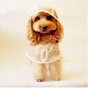 Capa De Chuva Transparente P/ Cães Tamanho Gg