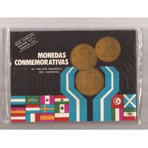 Argentina Blister Con 6 Monedas Mundial 1978 , Cuños 77 Y 78