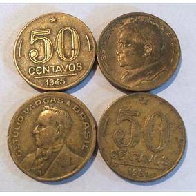 Moeda Antiga De 50 Centavos 1945
