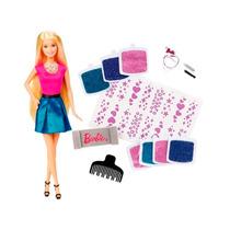 Boneca Barbie Glitter No Cabelo Clg18 Oficial Mattel