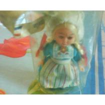 Antigua Muñeca Plastico C/est.mide 10 Cms.trajje Tipico