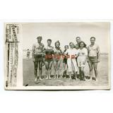 Foto Postal Hombres Mujeres Traje De Baño Mar Del Plata 1940