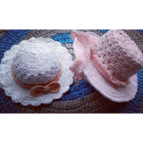 Capelinas Sombreros Tejidos Al Crochet Bebes Niñas Damas Alg