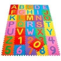 Tapete Infantil Gigante Alfabeto E Numeros 36 Peças