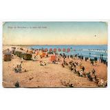 Postal Playa De Necochea A La Hora Del Baño 1925