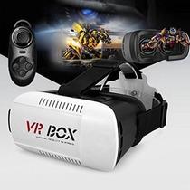 Lentes Vr Box Visor 3d Smartphone Virtual + Control Gratis