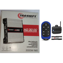 Potencia Automotiva Taramps Hd3000 Compact 2 Ohm + Tlc 3000