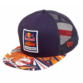 Gorra Plana Oficial Red Bull Ktm Snapback Malla 100%original