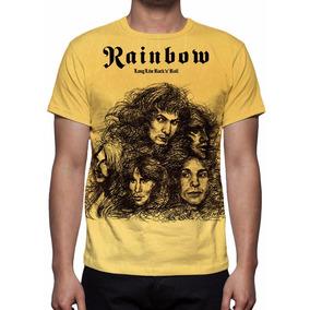 Camisa, Camiseta Rainbow - Long Live Rock N Roll