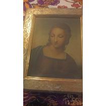 Preciosa Pintura Madonna , Firmada Villanueva