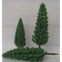 10 Pinheiro Árvore Miniatura Maquete Diorama 7 Cm