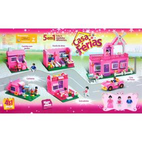 Brinquedo Xalingo Blocos De Montar Casa De Férias 431peças