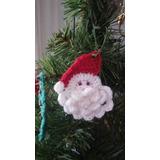 Adorno Para Árbol De Navidad, Papá Noel X6, Tejido Crochet