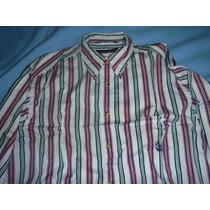 Camisa Nautica Talla L/g Manga Larga Tommy Hilfiger