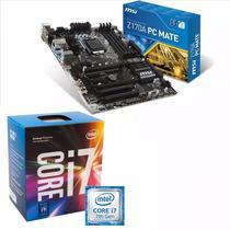 Combo Mother Msi Z170a Pc Procesador Intel Core I7 7700