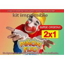 Kit Imprimible Piñon Fijo Diseñá Tarjetas , Cumples Y Mas