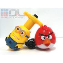 Trompo Despicable Me Minion Cars Rayo Angry Birds Luz Sonido
