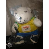 Urso Esportista Do Coca Cola,na Embalagem Original,lindo