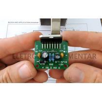 Kit Amplificador De Áudio Tda7297 Para Montar 30w Rms