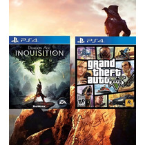Grand Theft Auto V + Dragon Age Inquisition Ps4 Cód Psn