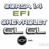 Emblemas Chevrolet Corsa 1.4 Efi Lateral Gl + Mala - 94 À 96