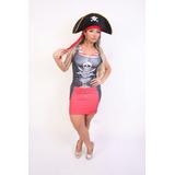 Fantasia Vestido Pirata Completa