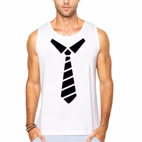 Camiseta Regata Smoking Terno Gravata Engraçada Cavada
