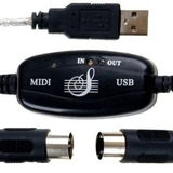 2 Und Cabo Usb Suporte Midi + Interface Guitar Link L