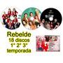 Novela Rbd Rebelde 1° 2° 3° Temporada Completas