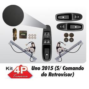 Kit Vidro Eletrico Uno Novo 2015 Traseiro Sensorizado