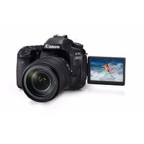 Câmera Dslr Profissional Canon Eos 80d Kit 18-135mm Is Usm