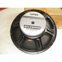 Alto Falante Woofer Selenium De 15 Pw3 250w Rms 8 Ohms
