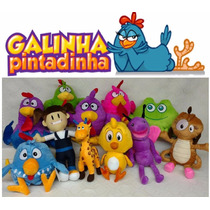 Kit Com 11 Pelúcias Da Turma Da Galinha Pintadinha